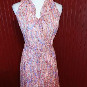 Vintage J. McLaughlin Paisley Wrap Dress 4